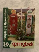 Springbok Puzzles To Remember 36pc Antique Gas Pump Brain Exercise New