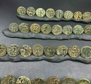 Lot Ancient Antique Bronze Indo Greco Greek's Kushan Coins South Asian Trade