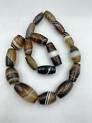Lot Old Agate Beads Necklace Pendant Vintage Jewelry 17 Century Trade Antique