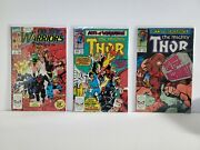 New Warriors And Night Thrasher Lot Thor 411 And 412 Asm Annual 22 Nice
