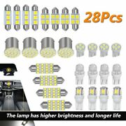 28x Car Interior Package Map Dome License Plate Mixed Led Light Accessories Kits