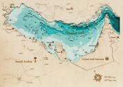 Woodenmap Persian Gulf Map 3d Best Gift Wood Map Home Decor