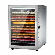 Smart Touch Food Dehydrator 12 Floors Stainless Steel Meat Fruit Dryer Machine