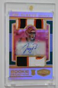 Joe Burrow Rc Patch Auto 11/15 - 2020 Panini Plates And Patches Rookie Reflections