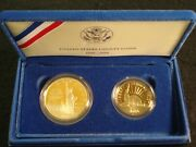 1986 Liberty 2 Coin Proof Set - Silver Dollar And Half Dollar