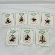 Lot Of 7 Santaand039s Workbench Counted Cross Stitch Kits Christmas Ornament Frames
