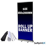 Roller Banner Printed Your Artwork Eco Pop/roll/pull Up Display Exhibition Stand