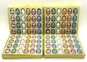 Vintage Painted Wooden Easter Egg Tree Ornaments Small Deco Set 96 Pieces