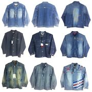 Assorted Menand039s Denim Trucker Jacket 100 Cotton Limited Style And Sizes