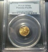 1915-s Panama-pacific Commemorative 1 Gold Pcgs Ms66 Super Fast Shipping