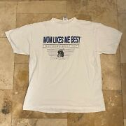 Vintage Smothers Brothers Mom Likes Me Best T-shirt 90s Size Xl Autographed
