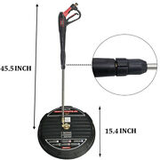 Round 15/16 3600psi Surface Cleaner Disc Power Washer For Siding Car Cleaning
