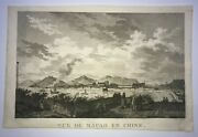 Macao Macau China 1797 La Perouse Large Antique Engraved View 18th Century