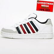 K Swiss Classics Court Palisades Mens Leather Retro Heritage Trainers White