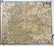 Very Large Wall Map Of Paris And Environs France 1722 By Danet 18th Century