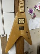 Vintage C.1979 Mighty Mite Strat Head Flying V Electric Guitar.