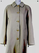 London Coat Beige Knee Length Button Down Trench Cotton Blend 10