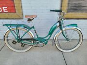 Vintage Schwinn Bicycle Girls Green Phantom Original Balloon Tire Bike Rare