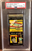 Rare - 1960 Mickey Mantleand039s Holiday Inn Matchbook - Psa-3 Vg - Yellow Background