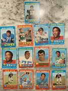 1971 Topps Football Cards - A Dozen The Best Players From That Era