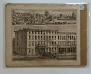 Original 1800's Lithograph Of The Zoller House Fort Plain, Montgomery, Ny