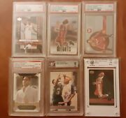 Lebron James 2003 04 Rookie Invester Lot 6- 4 Psa 9 1 Bgs 9 With 9.5s Asg 10