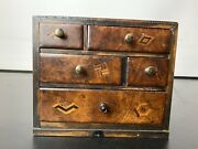 Victorian Apprentice Piece Mahogany Chest Of Drawers