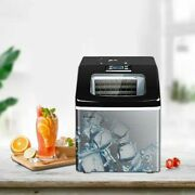 Automatic Ice Maker Machine Mini Square Stainless Steel Commercial Home Icemaker