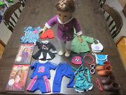 Authentic American Girl 18 Doll Rebecca W/2 Books And Extra Clothes/accessories