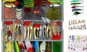 129pcs Fishing Lure Set Including Plastic Soft Lures Frog Lures Spoon Lures