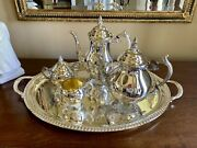 Vintage F.b Rogers Silver Co Silverplate 5 Pcs Tea/coffee Set