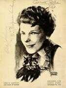 Amelia M. Earhart - Program Signed Circa 1932 With Co-signers