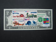 Us 2 10andcent Postal Service Plane Train Trucks Love Stamp Art Collectible Money