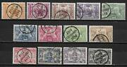 Portuguese Acores Stamps 1894 Yv 62-74 Canc Vf