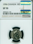 1996 Canada 10 Cents Ngc Sp-70 Mac Finest Grade And Spotless Rare ..