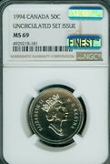 1994 Canada 50 Cents Ngc Ms69 Pq Mac Finest Grade And Spotless Rare ..