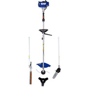 26 Cc 2-cycle Gas String Trimmer Full Crank 4- In- 1 Multi-function With Pole Sa