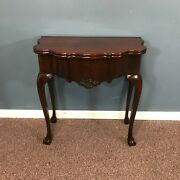 19th C. Chippendale Irish Game Table W/ Compartments And Drawer