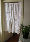 Free Shipping Pair Of Shabby Chic Vintage British Rustic Style Linen Curtain