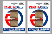 Front And Rear Brake Pads 2 Pairs For Daelim 125 History 2001