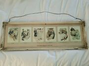 Antique Vintage Picture Framed The Greatest Moments Of A Girland039s Life 6 Pictures