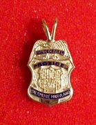 Baltimore Md Police Officer Charm Miniature Badge In 14k Yellow Gold - 4.6 Grams
