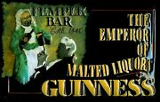 Guinness Temple Bar Tin Sign Shield 3d Embossed Arched 7 7/8x11 13/16in
