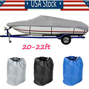 20-22ft 600d Oxford Fabric High Quality Waterproof Boat Cover V-hull Runabout Us