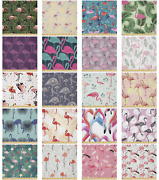 Ambesonne Flamingo Microfiber Fabric By The Yard For Arts And Crafts