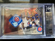 2017 Topps Now Relics Red Bgs Chicago Cubs Base/ws Ring Ceremony /10