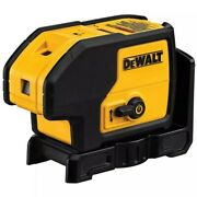 Dewalt 100 Ft. Red Self-leveling 3-spot Laser Level With 4 Aa Batteries And Case