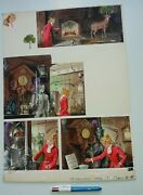 Large Painted Page - 1966 - Clive Uptton - Haunted Castle - Princess Comic