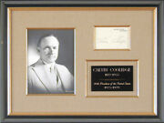 Calvin Coolidge - White House Card Signed