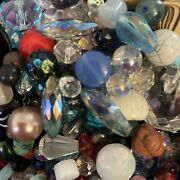Vintage 5 Lb Murano Glass All Glass Beads Crystals Aurora Borealis, All Shapes